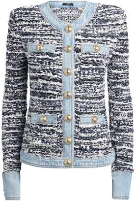 Balmain Tweed Denim Jacket