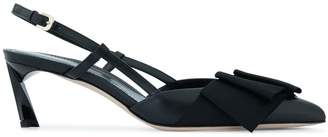 Lanvin kitten pumps with bow strap