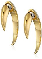 Vince Camuto Gold-Tone Small-Horn Hoop Earrings