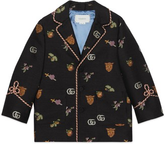 Gucci Children's symbols jacquard jacket