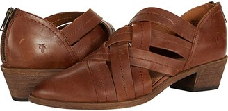 Frye Ray Huarache Bootie (Cognac Polished Soft Full Grain) Women's Boots