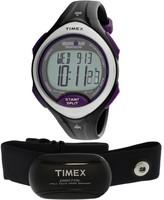 Timex Women's Ironman Road Trainer T5K723 Black Rubber Quartz Sport Watch