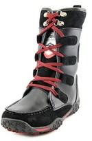 Pajar Gaetana Women Round Toe Leather Black Snow Boot.