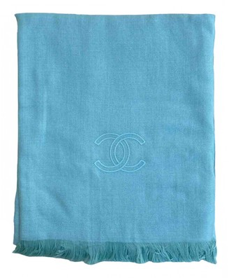 Chanel Turquoise Cashmere Scarves