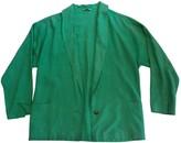 Gianni Versace Green Silk Jacket for Women Vintage