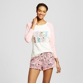 Sesame Street Women's Long Sleeve Tee/Boxer Pajama Set