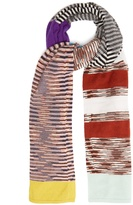Missoni Striped-intarsia cashmere scarf