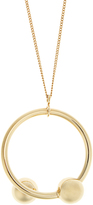 J.W.Anderson Double-sphere gold-plated necklace