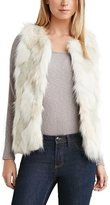 haoduoyi Womens 2015 Winter Chic Soft Gradient Color Faux Fur Waist Coat Vest (M)