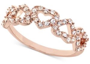 Charter Club 18K Rose Gold Plate Pave Open Heart Ring, Created for Macy's