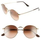 Ray-Ban Women's 50Mm Retro Sunglasses - Blue/ Brown