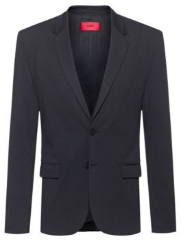 HUGO BOSS Packable Slim Fit Jacket With Zipped Pockets - Black