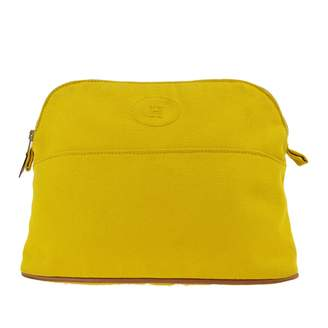 Hermes Yellow Cotton Travel bags