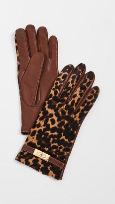 Tory Burch Leopard Lee Lock Gloves