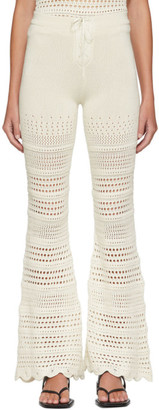 Amiri Off-White Checkered Crochet Flare Lounge Pants