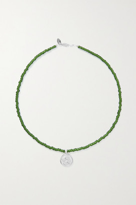 Santangelo - Cazh Silver And Bead Necklace - Green