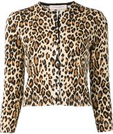 Carolina Herrera cheetah print cardigan - women - Virgin Wool - M