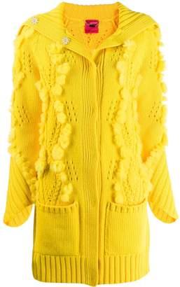Blumarine knitted cardi-coat