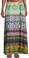 Ale By Alessandra Bengal Shore Slit Maxi Coverup Skirt, Multi