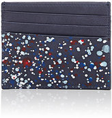 Maison Margiela Men's Paint-Splattered Card Case-NAVY