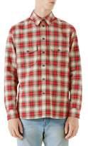 Gucci Vintage Back Patch Button-Down Shirt