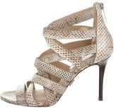 Michael Kors Snakeskin Caged Sandals