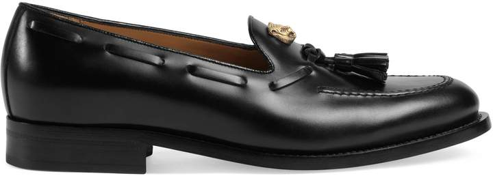 Gucci Leather loafer with feline