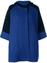 Gianluca Capannolo two tone hooded coat - women - Virgin Wool/Polyamide - 38
