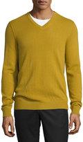 Vince Cashmere V-Neck Sweater, Mustard