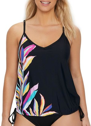 24th & Ocean Wild Vines Underwire Blouson Tankini Top