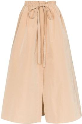Givenchy Gathered-Waist Maxi Skirt