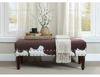 Trent Austin Design Costakes Bench Upholstery: Brown Faux Cowhide