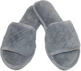 Dearfoams Women's Microfiber Open Toe Terry Slide Slippers, Small