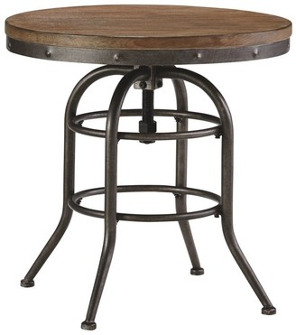 Signature Design by Ashley Vennilux Grayish Brown Vintage Casual Round End Table
