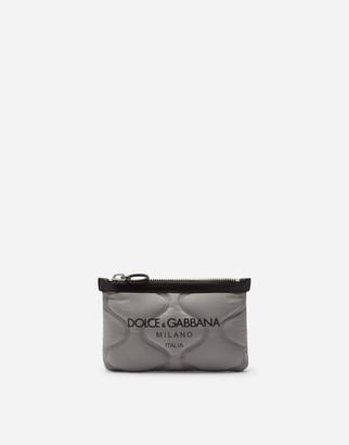 Dolce & Gabbana Flat Palermo Tecnico Belt Bag In Nylon With Logo Print