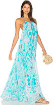 Rococo Sand Halter Maxi Dress in Blue. - size M (also in XS)