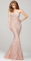 Jovani Crystal Embellished Lace Prom Dress