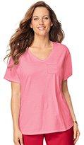 Just My Size Women's Short-Sleeve X-Temp Pocket T-Shirt