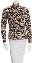 Kate Spade Leopard Print Long Sleeve Top