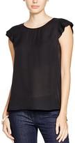 Joie Nesrin Pleated Sleeve Silk Top