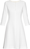 Goat Carlotta button-up double wool-crepe dress