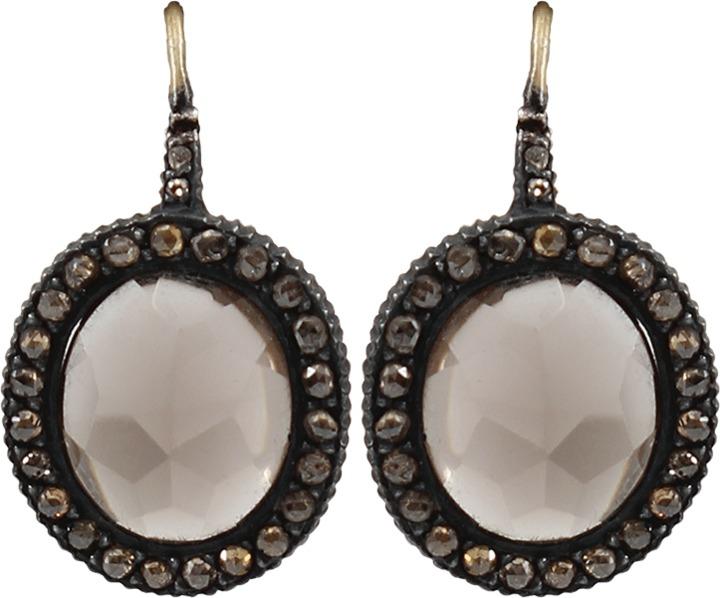 Yossi Harari Lilah Smokey Quartz Earrings