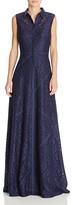 Aidan Mattox Lace Shirt Gown