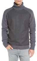 French Connection Men's 'Melton' Turtleneck Raglan Lambswool Blend Sweater