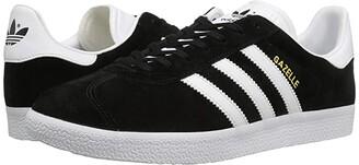 adidas Gazelle Foundation (Core Black/White/Gold Metallic) Men's Tennis Shoes