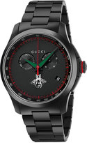 Gucci Men's Swiss Chronograph G-Timeless Black PVD Stainless Steel Bracelet Watch 44mm YA126269