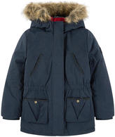 Ikks 2 in 1 parka with a removable windbreaker