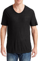 Alexander Wang Low Neck Silk Blend T-Shirt