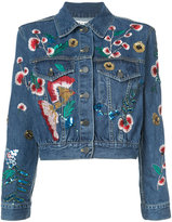 Alice + Olivia Alice+Olivia embroidered denim jacket