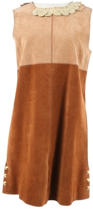 Louis Vuitton Brown Leather Dresses